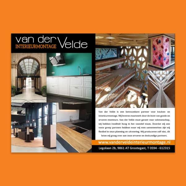 Van der Velder Interieurmontage - klant Reclamebureau RAM - advertentie