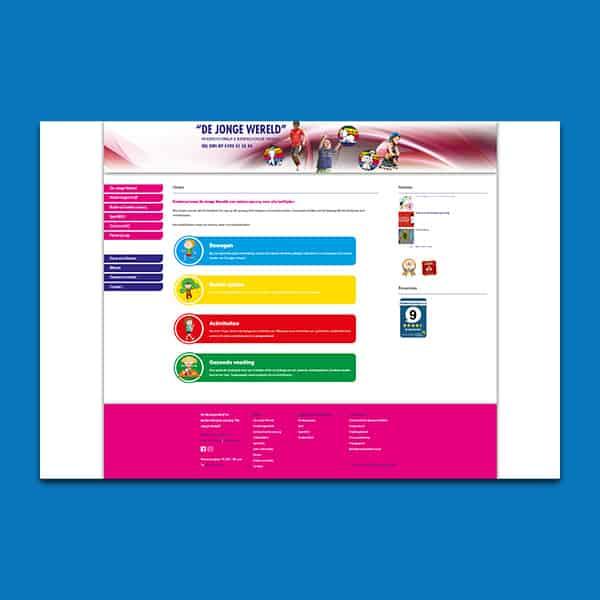 De Jonge Wereld - Klant Reclamebureau RAM - website