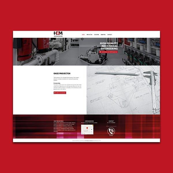 HQM Engineering - Klant Reclamebureau RAM - ontwerp + onderhoud website