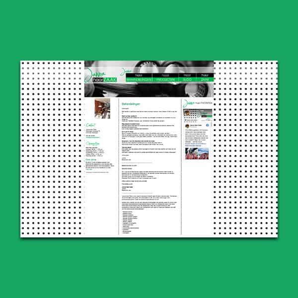Janna Haar Zaak - Klant Reclamebureau RAM - ontwerp + onderhoud website