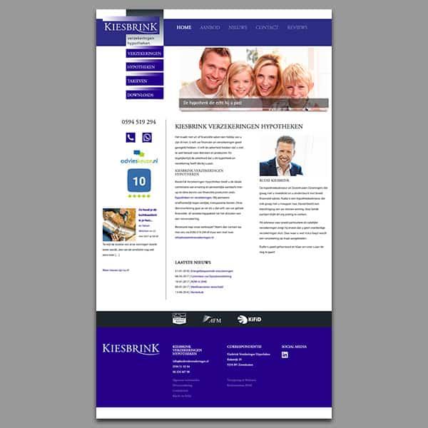 Kiesbrink Verzekeringen - Klant Reclamebureau RAM - ontwerp + onderhoud website