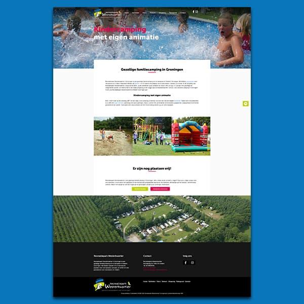 Recreatiepark Westerkwartier - Klant Reclamebureau RAM - ontwerp + onderhoud website