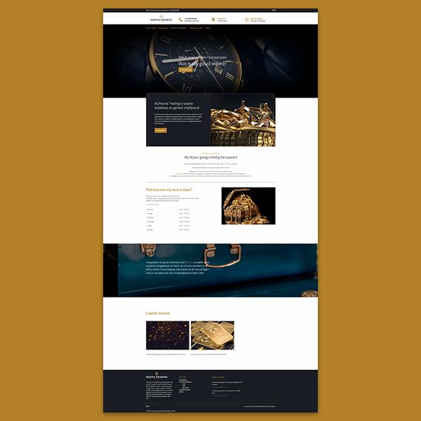 Roona Trading - Klant Reclamebureau RAM - ontwerp + onderhoud website