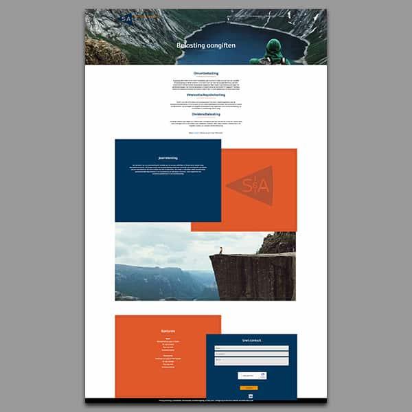 Slenema en Aalders - Klant Reclamebureau RAM - ontwerp website