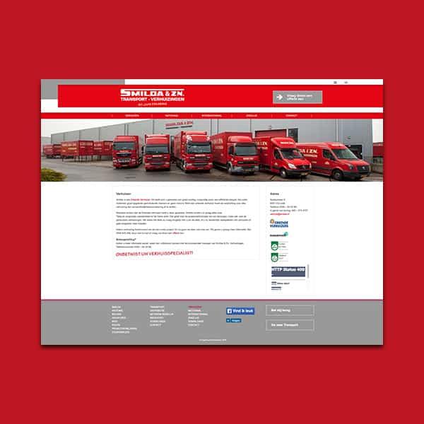 Smilda Transport Verhuizingen - Klant Reclamebureau RAM - website